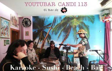 flayer karaoke sushi beach bar youtubar candy 113 barcelona