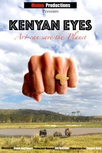 poster vertical documental Kenyan eyes el arte puede salvar al planeta