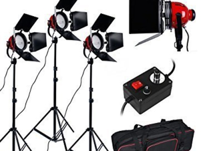 kit luces halogenas foco rojo 1000w